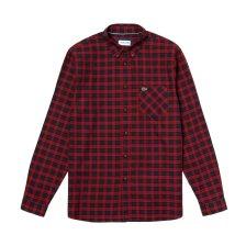 Lacoste ανδρικό καρό πουκάμισο με γιακά με κουμπιά - CH0062 - Κόκκινο