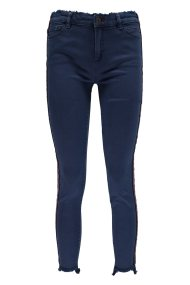 Εsprit γυναικείο τζην παντελόνι με ριγέ διακοσμητική τρέσα στο πλάι - 029EE1B012 - Μπλε Σκούρο
