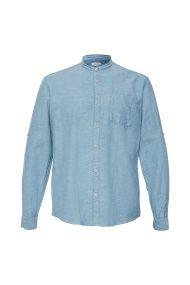 Esprit ανδρικό casual πουκάμισο με μάο γιακά - 049EE2F010 - Γαλάζιο