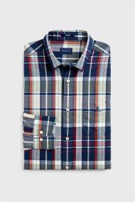 Gant ανδρικό πουκάμισο καρό Regular Fit Tech Prep™ Madras - 3009420 - Κόκκινο
