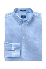 Gant ανδρικό καρό πουκάμισο Broadcloth Ginham Regular - 3046700 - Γαλάζιο