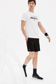 Lacoste ανδρική βερμούδα Lacoste SPORT Novak Djokovic - GH3555 - Μαύρο