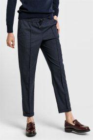 Gant γυναικείο παντελόνι μάλλινο melange - 4150102 - Μπλε Σκούρο