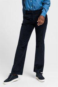 Gant γυναικείο παντελόνι κοτλέ Cord Slim Slouch - 4150107 - Μπλε Σκούρο