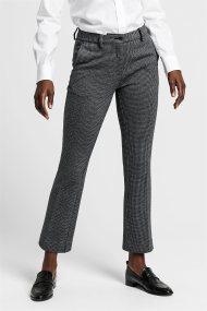 Gant γυναικείο παντελόνι cropped Dogtooth Jersey - 4150112 - Γκρι