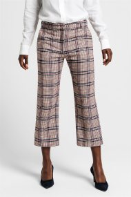 Gant γυναικείο παντελόνι cropped καρό μάλλινο - 4150114 - Μπεζ