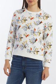 Gant γυναικείο φούτερ με floral print - 4203617 - Λευκό