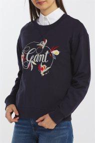 Gant γυναικείο φούτερ με κεντημένο print - 4203620 - Μπλε Σκούρο