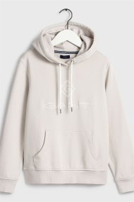 Gant γυναικείο φούτερ με κουκούλα και κεντημένο logo print - 4204681 - Εκρού