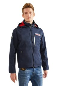 La Martina ανδρικό jacket με αφαιρούμενη κουκούλα Keshawn - NMOM60-PA096 - Μπλε Σκούρο