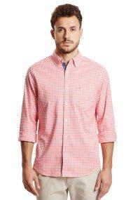 Nautica ανδρικό καρό πουκάμισο Classic Fit - W83614 - Πορτοκαλί