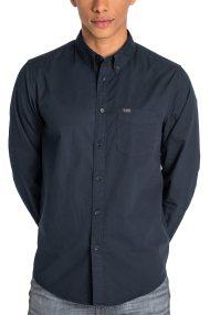 Lee ανδρικό πουκάμισο μονόχρωμο Button Down - L880NB01 - Μαύρο