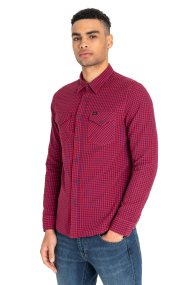 Lee ανδρικό καρό πουκάμισο Western - L644NLEF - Κόκκινο