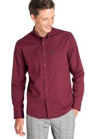 Lee ανδρικό πουκάμισο Button Down - L880NBMF - Μπορντό