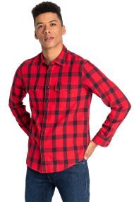 Lee ανδρικό πουκάμισο καρό Rider - L856OEKG - Κόκκινο