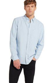 Wrangler ανδρικό πουκάμισοOne Pocket Faded Denim - W5883BMAN - Ανοιχτό Γαλάζιο