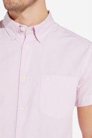 Wrangler ανδρικό κοντομάνικο πουκάμισο Button Down - W5944OSY2 - Ροζ