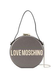 Love Moschino γυναικεία στρογγυλή τσάντα crossbody με αλυσίδα Peace Love and Stars - JC4038PP18LD0 - Ανθρακί