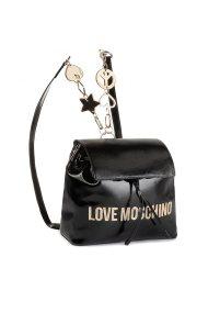 Love Moschino γυναικείo backpack με αλυσίδα Peace Love and Stars - JC4039PP18LD0 - Μαύρο
