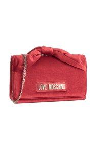Love Moschino γυναικείo βελούδινο clutch με αλυσίδα ώμου - JC4124PP18LZ0 - Κόκκινο