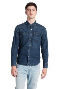 Levi's ανδρικό τζην πουκάμισο Barstow Wester Hemd - 6581603-00 - Μπλε Σκούρο
