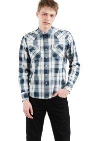 Levi's ανδρικό πουκάμισο καρό Barstow Western - 6581602-80 - Μπλε Σκούρο