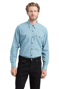 Levi's ανδρικό πουκάμισο Modern Barstow Denim - 5740600-09 - Μπλε Ανοιχτό
