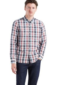 Levi's ανδρικό πουκάμισο καρό Sunset Pocket - 6582404-13 - Μπλε