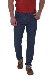 Dur ανδρικό τζην παντελόνι πλυμένο - 41220048 - Μπλε Σκούρο