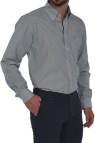 Dur ανδρικό ριγέ πουκάμισο σε κανονική γραμμή - 11020534 - Πράσινο