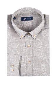 Dur Ανδρικό πουκάμισο με στάμπα - 11020633 - Γκρι