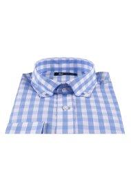 Dur Ανδρικό πουκάμισοκαρό - 11020635 - Γαλάζιο