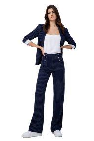 Billy Sabbado γυναικείο ριγέ παντελόνι - 0232466159 - Μπλε Σκούρο