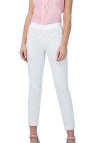 Billy Sabbado γυναικείο παντελόνι pencil με κουμπιά στο τελείωμα - 0299476236 - Λευκό
