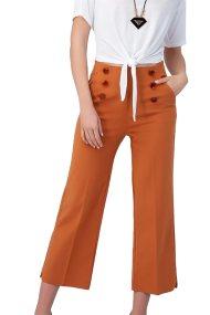 Billy Sabbado γυναικείο παντελόνι ψηλόμεσο - 0243401236 - Πορτοκαλί