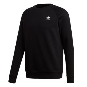 Adidas ανδρικό φούτερ με στρογγυλή λαιμόκοψη Essential - DV1600 - Μαύρο
