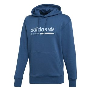 Adidas ανδρικό φούτερ με κουκούλα Kaval Graphic - DV1909 - Μπλε