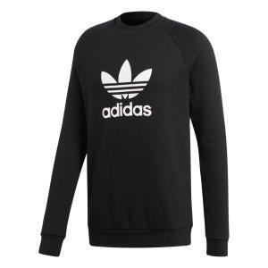 Adidas ανδρικό φούτερ με στρογγυλή λαιμόκοψη Trefoil Warm-Up - CW1235 - Μαύρο