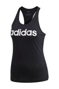 Adidas γυναικεία αθλητική αμάνικη μπλούζα Εssentials Linear Slim - DP2359 - Μαύρο