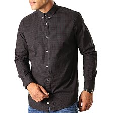 Tom Tailor ανδρικό καρό πουκάμισο Slim Fit - 1013526 - Μαύρο