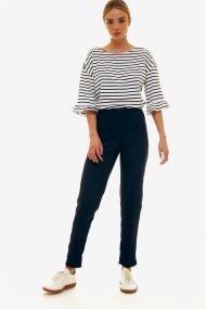 Jupe γυναικείο παντελόνι cigarette μονόχρωμο - 21.191.J03.009 - Μπλε Σκούρο