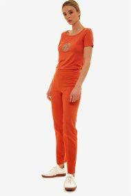 Jupe γυναικείο μονόχρωμο παντελόνι cigarette - 21.191.J03.012 - Πορτοκαλί