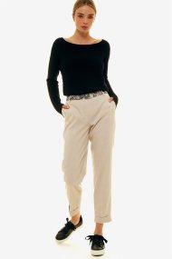 Jupe γυναικείο καρό παντελόνι με λεπτομερειες με snake print - 21.191.J03.006 - Μπλε Σκούρο
