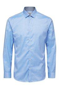 SELECTED ανδρικό πουκάμισο μακρυμάνικο Slim fit - 16058640 - Ανοιχτό Γαλάζιο