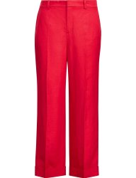 Lauren Ralph Lauren γυναικεία λινή cropped παντελόνα - 200737763002 - Κόκκινο