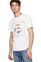 Pepe Jeans ανδρικό T-shirt με στάμπα Ealing - PM506403 - Εκρού image