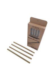 Cook-Shop σετ από 4 bamboo καλαμάκια με βουρτσάκι Eco Straws 21.5 cm - BS-01