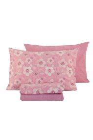 Σετ παπλωματοθήκη ροζ υπέρδιπλη Myriam (230 x 240 cm) NEF-NEF - 019984 ORCHI - Ροζ