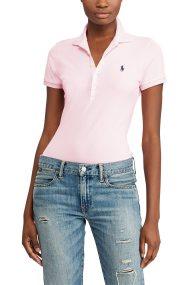 Polo Ralph Lauren γυναικεία μπλούζα Polo Slim Fit Stretch - 211505654112 - Ροζ