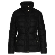 Lauren Ralph Lauren γυναικείο μπουφάν Crest-Patch Quilted Jacket Black - 297728256001 - Μαύρο